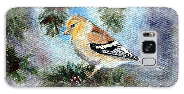 Goldfinch In A Tree Galaxy Case by Brenda Thour