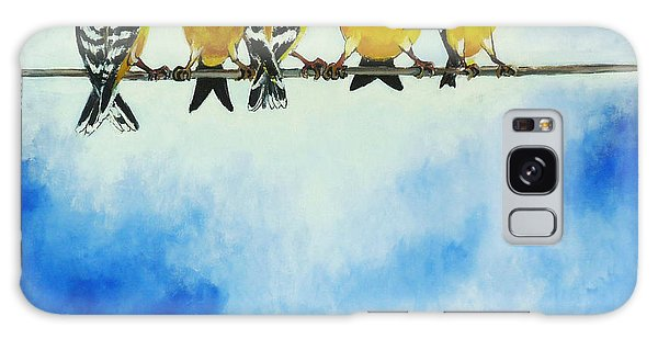 Goldfinch On A Wire Galaxy Case