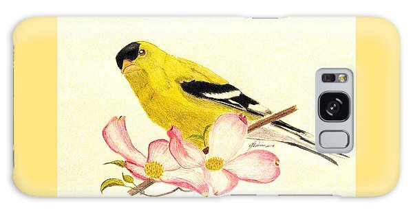 Goldfinch Spring Galaxy Case