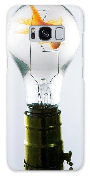 Goldfish In Light Bulb  Galaxy Case