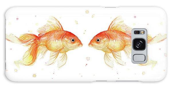 Goldfish Love Watercolor Galaxy Case