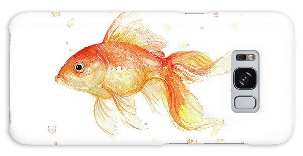 Goldfish Galaxy Case - Goldfish Painting Watercolor by Olga Shvartsur