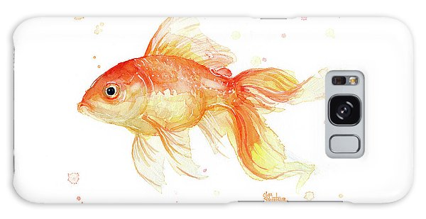 Goldfish Painting Watercolor Galaxy Case