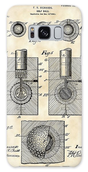 Golf Ball Patent 1902 - Vintage Galaxy Case by Stephen Younts