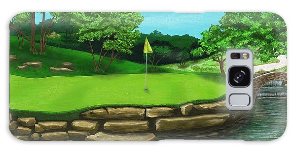 Golf Green Hole 16 Galaxy Case