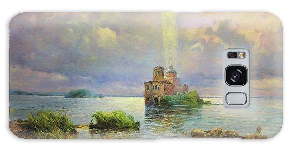 Russian Impressionism Galaxy Case - Golgotha Fantasy Impressionism by Isabella Howard