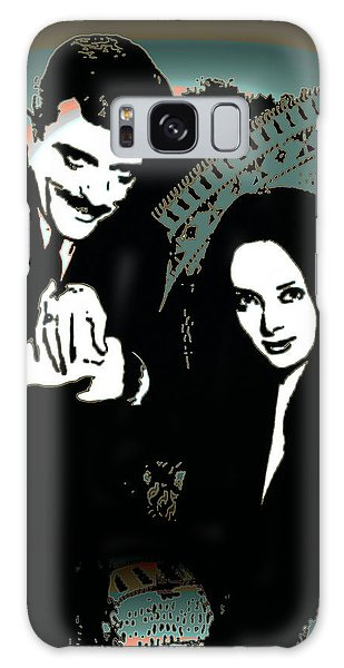 Galaxy Case featuring the digital art Gomez And Morticia Addams by Joy McKenzie