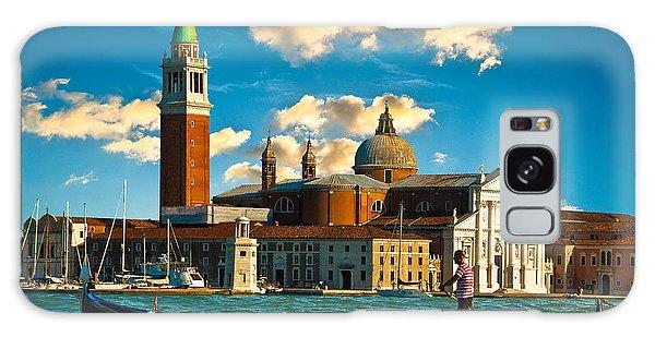 Gondola And San Giorgio Maggiore Galaxy Case by Harry Spitz