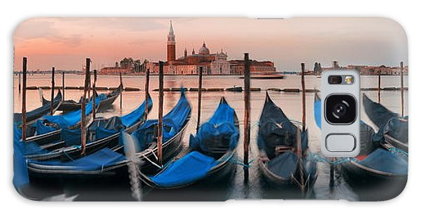 Galaxy Case featuring the photograph Gondola And San Giorgio Maggiore Island Panorama by Songquan Deng