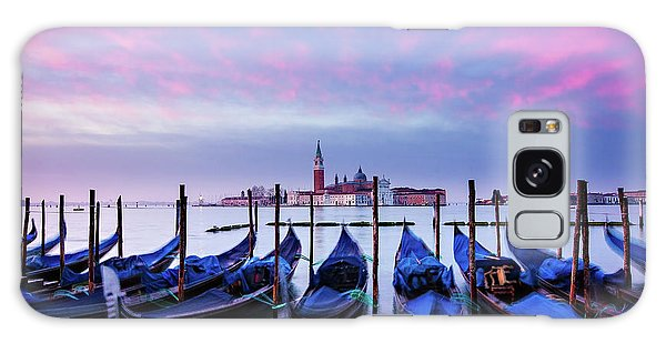 Galaxy Case featuring the photograph Gondolas At Dawn - Venice by Barry O Carroll