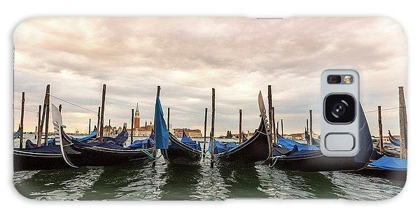 Gondolas In Venice, Italy Galaxy Case