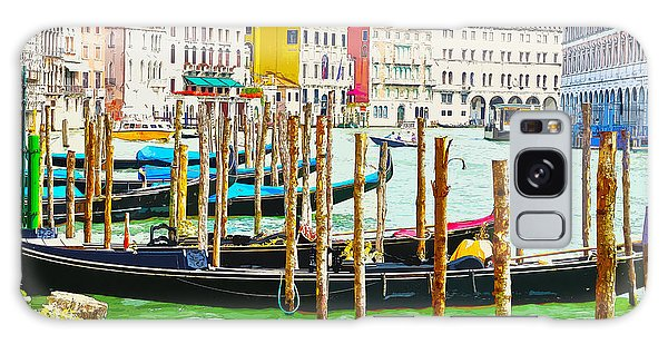 Gondolas On The Grand Canal Venice Italy Galaxy Case