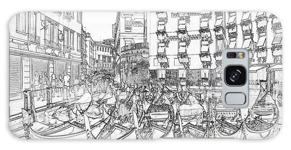 Galaxy Case - Gondolas Tied Up Pen And Ink by Bob Neiman