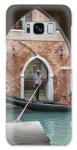 Gondolier In Frame Venice Italy Galaxy Case