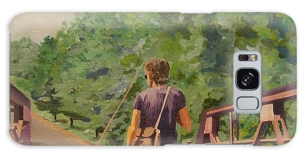 Gone Fishing With Dad Galaxy Case