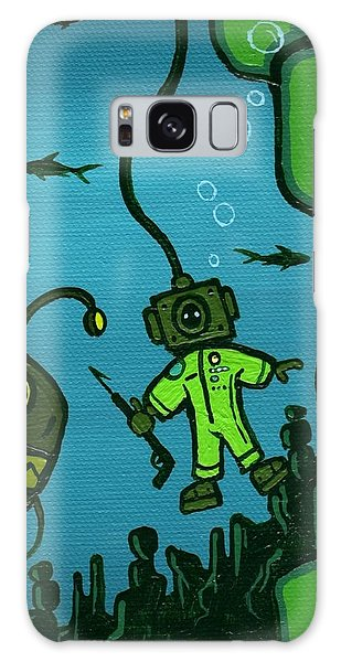 Scuba Diving Galaxy Case - Gone Fish'n by Dan Keough
