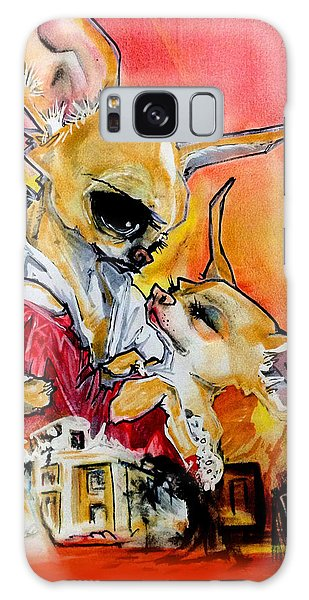 Gone With The Wind Chihuahuas Caricature Art Print Galaxy Case