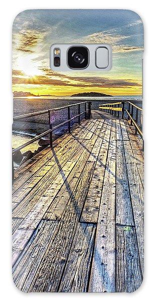 Good Harbor Beach Footbridge Shadows Galaxy Case