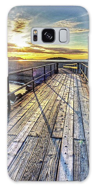 Good Harbor Beach Footbridge Shadows Galaxy Case