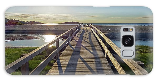 Good Harbor Beach Footbridge Sunny Shadow Galaxy Case