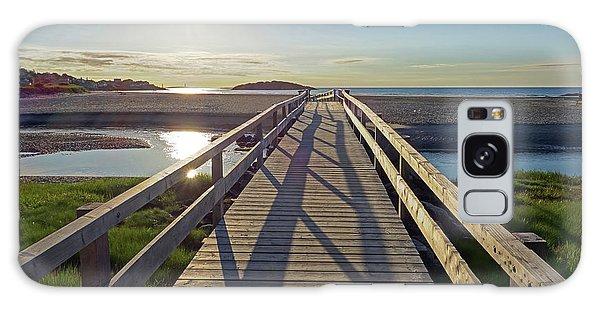 Good Harbor Beach Footbridge Sunny Shadow Galaxy Case
