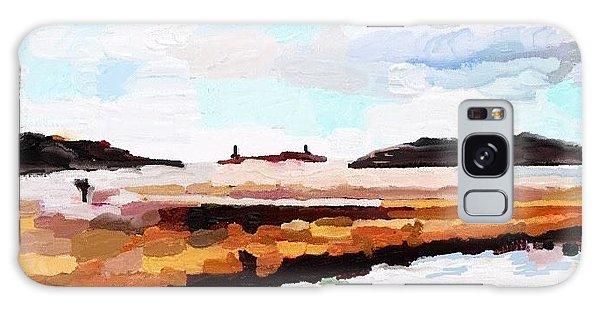 Good Harbor Beach, Salt Island, And Thatcher's Island Galaxy Case