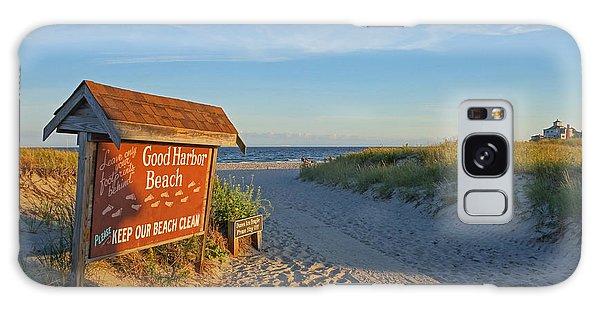 Good Harbor Sign At Sunset Galaxy Case