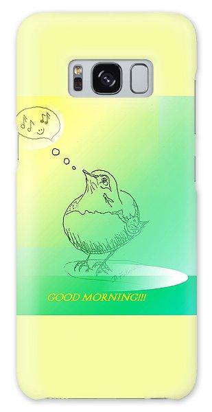 Song Birds Galaxy Case - Good Morning Robin by Denise F Fulmer