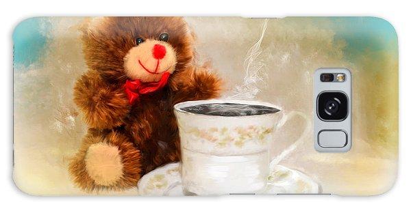 Good Morning Teddy Galaxy Case