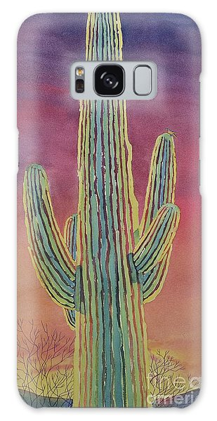 Good Night Cactus Wren Galaxy Case