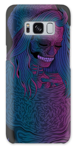 Good Vibes Skelegirl Galaxy Case