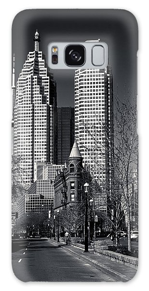 Gooderham Flatiron Building And Toronto Downtown Galaxy Case