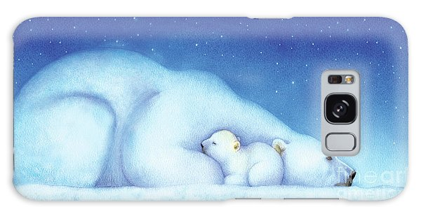 Arctic Bears, Goodnight Nanook Galaxy Case by Tracy Herrmann