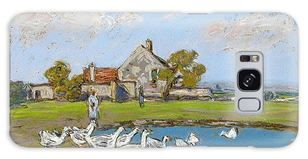 Impressionistic Galaxy Case - Goose Girl At Sablons by Alfred Sisley