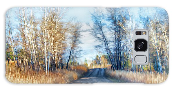 Goose Lake Road Galaxy Case by Theresa Tahara