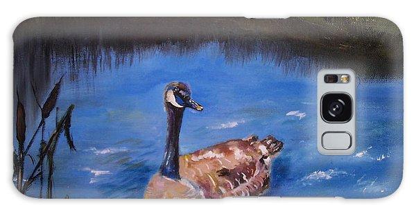 Gosling Galaxy Case - Goose by Leslie Allen