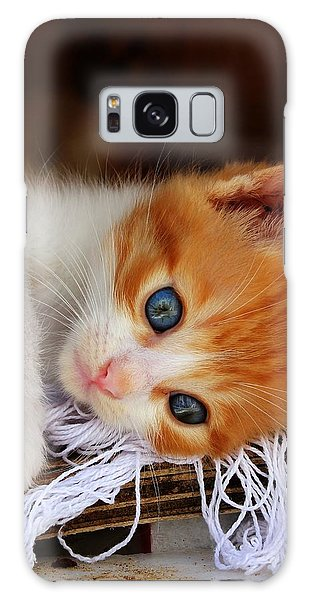 Gorgeous Blue Eyes Galaxy Case
