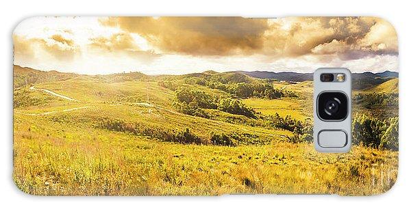 Beautiful Sunrise Galaxy Case - Gorgeous Golden Sunset Field  by Jorgo Photography - Wall Art Gallery
