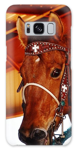 Gorgeous Horse And Bridle Galaxy Case