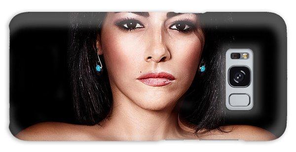 Gorgeous Woman Portrait Galaxy Case