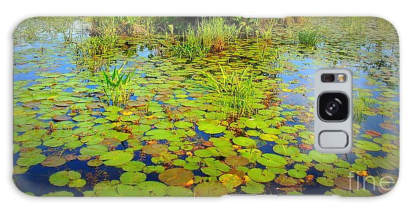 Gorham Pond Lily Pads Galaxy Case