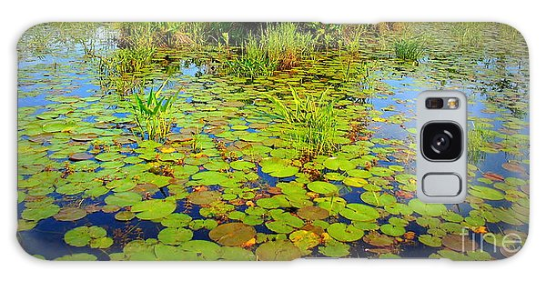 Gorham Pond Lily Pads Galaxy Case by Susan Lafleur