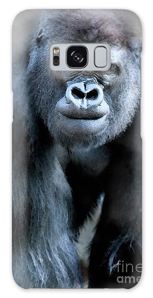 Gorilla In The Mist Large Canvas Art, Canvas Print, Large Art, Large Wall Decor, Home Decor Galaxy Case by David Millenheft