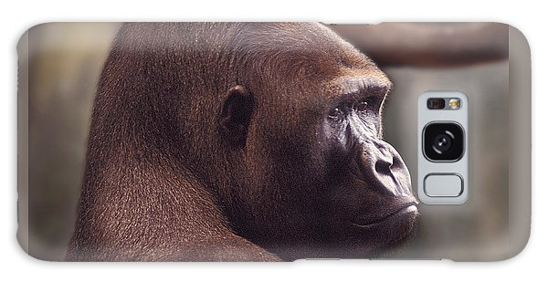 Gorilla Portrait Galaxy Case by Greg Slocum