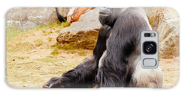 Gorilla Sitting Upright Galaxy Case