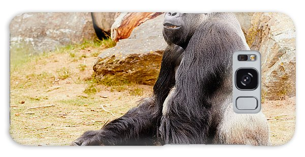 Gorilla Sitting Upright Galaxy Case