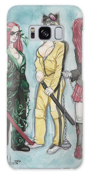 Gotham City Sirens Kill Bill Mashup Galaxy Case