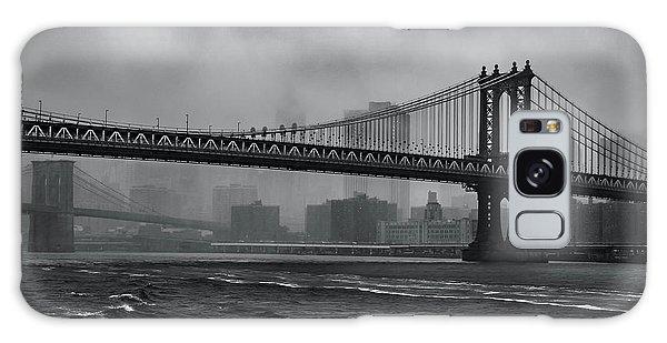 Manhattan Bridge In A Storm Galaxy Case