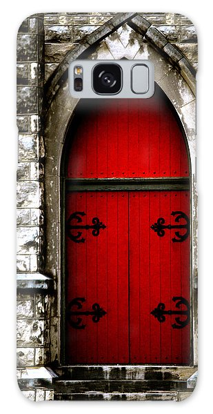 Gothic Red Door Memphis Church Galaxy Case