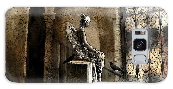 Gothic Surreal Angel With Gargoyles And Ravens  Galaxy Case